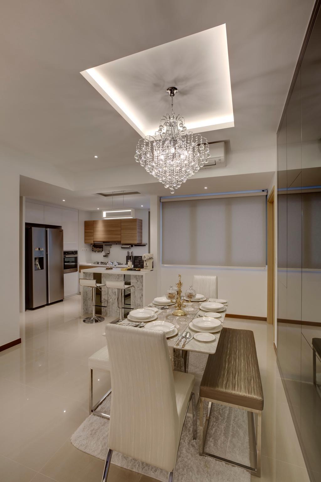 Modern, Condo, Dining Room, Sea Horizon, Interior Designer, The Orange Cube