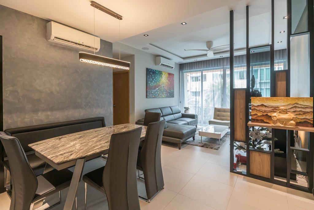 Modern, Condo, Dining Room, Spectrum, Interior Designer, The Orange Cube