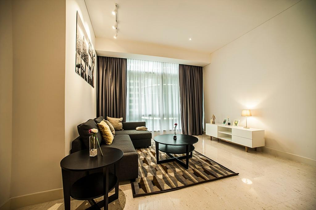 Modern, Condo, Living Room, Banyan Tree, Interior Designer, IQI Concept Interior Design & Renovation, Contemporary