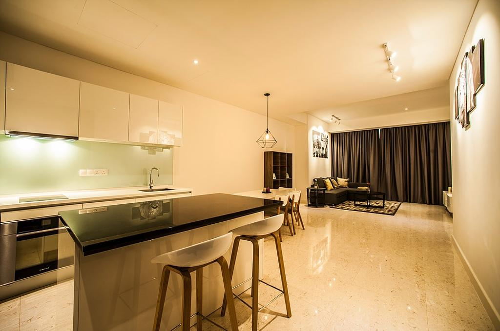 Modern, Condo, Dining Room, Banyan Tree, Interior Designer, IQI Concept Interior Design & Renovation, Contemporary