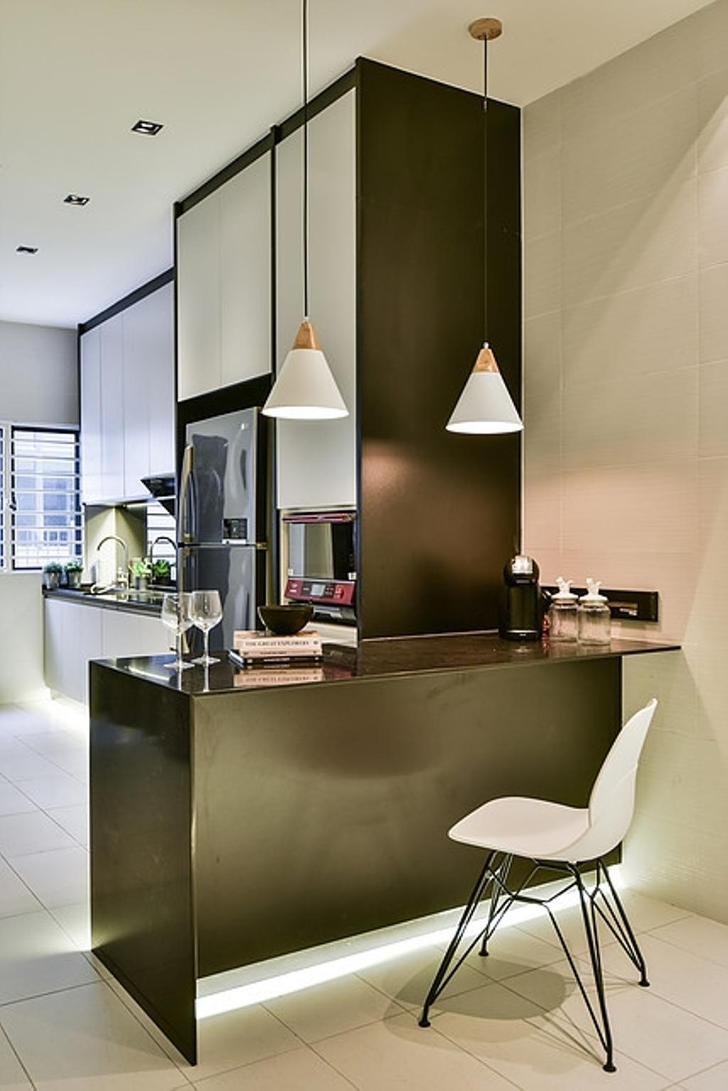 Contemporary, Landed, Kitchen, Damai Perdana, Interior Designer, IQI Concept Interior Design & Renovation