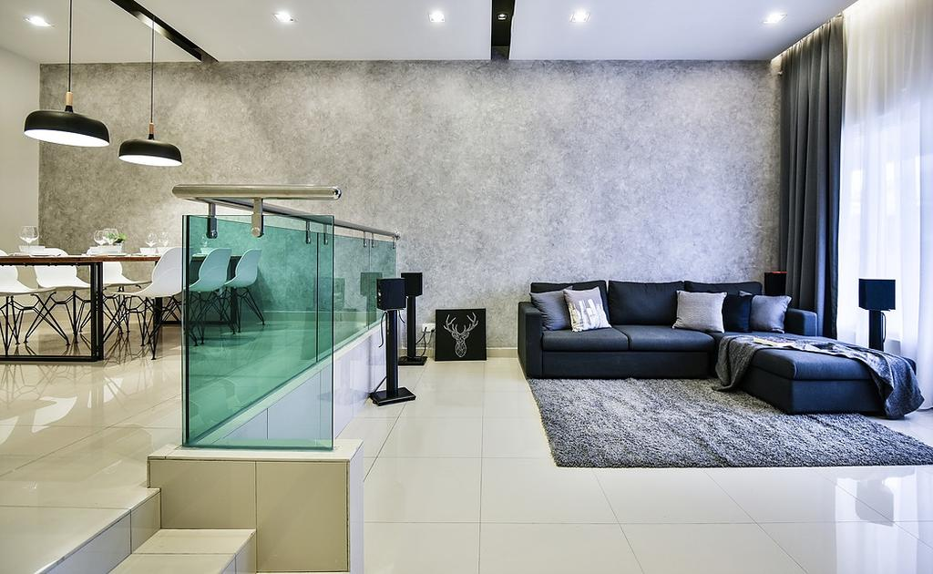 Contemporary, Landed, Living Room, Damai Perdana, Interior Designer, IQI Concept Interior Design & Renovation