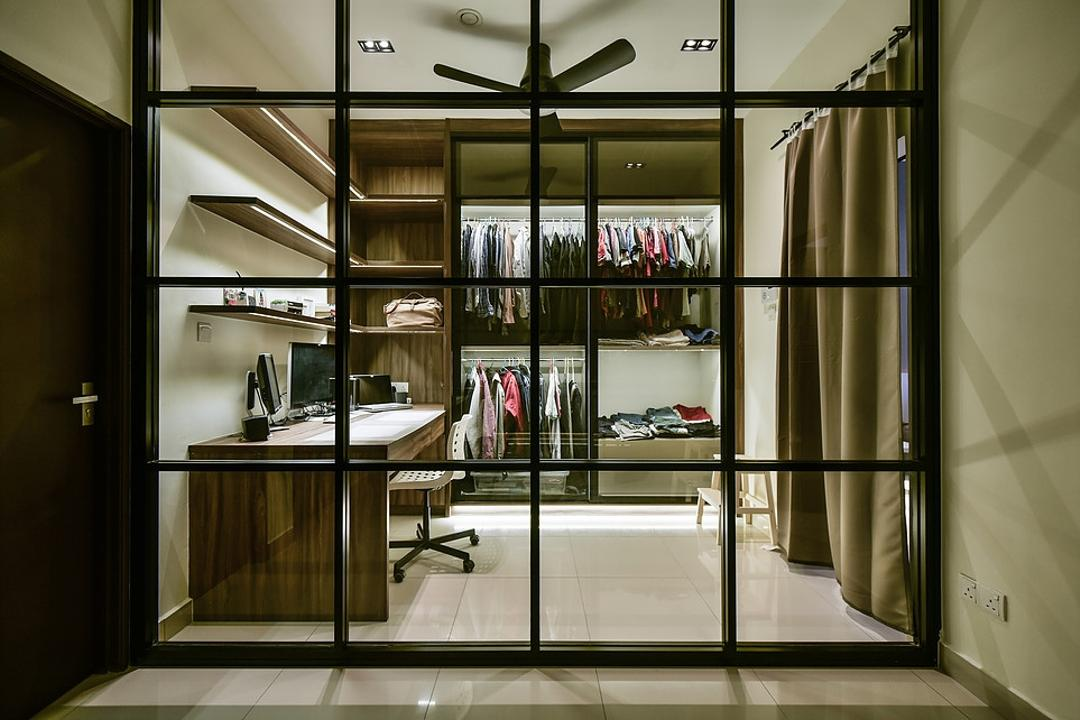 Damai Perdana, IQI Concept Interior Design & Renovation, Contemporary, Study, Landed, Walk In Wardrobe, Wardrobe, Dresser