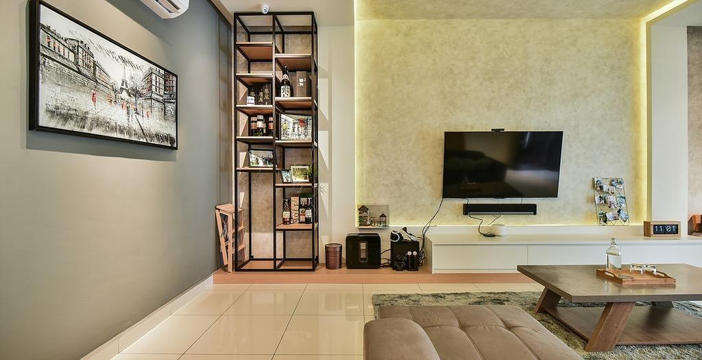 Contemporary, Landed, Living Room, Temasya, Interior Designer, IQI Concept Interior Design & Renovation