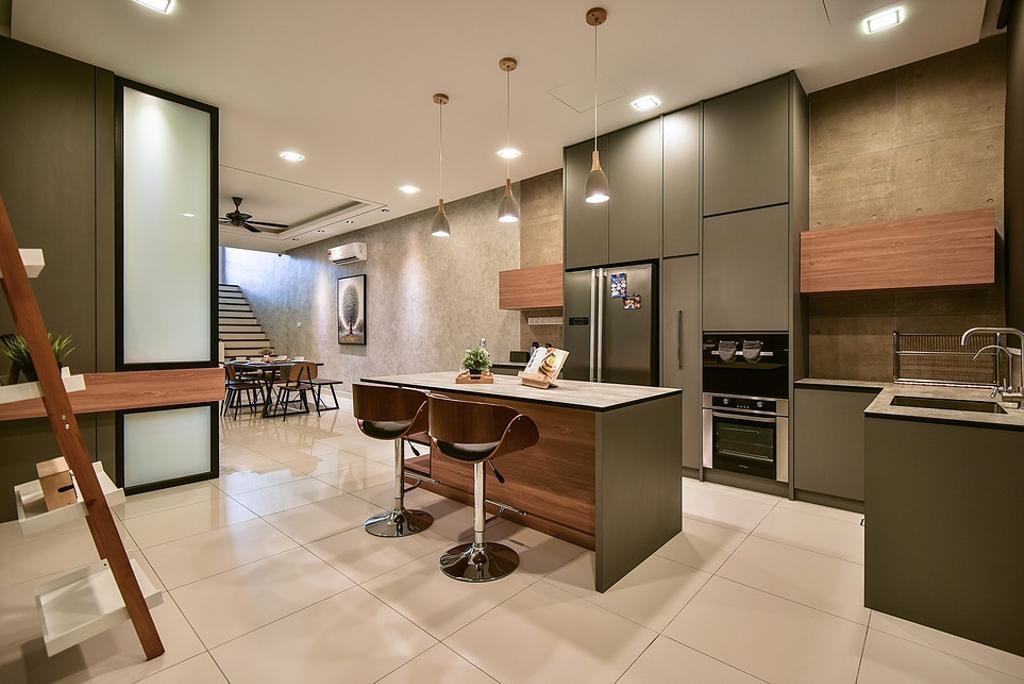 Contemporary, Landed, Kitchen, Temasya, Interior Designer, IQI Concept Interior Design & Renovation