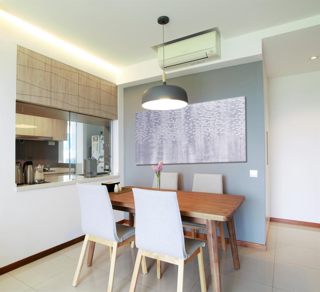 Scandinavian, Condo, Dining Room, Waterview, Interior Designer, Intrigue-d Design Consultancy