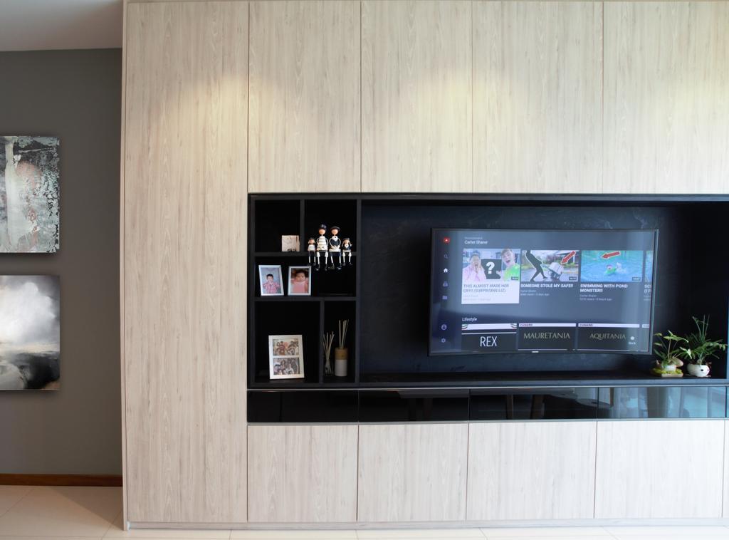 Scandinavian, Condo, Living Room, Waterview, Interior Designer, Intrigue-d Design Consultancy