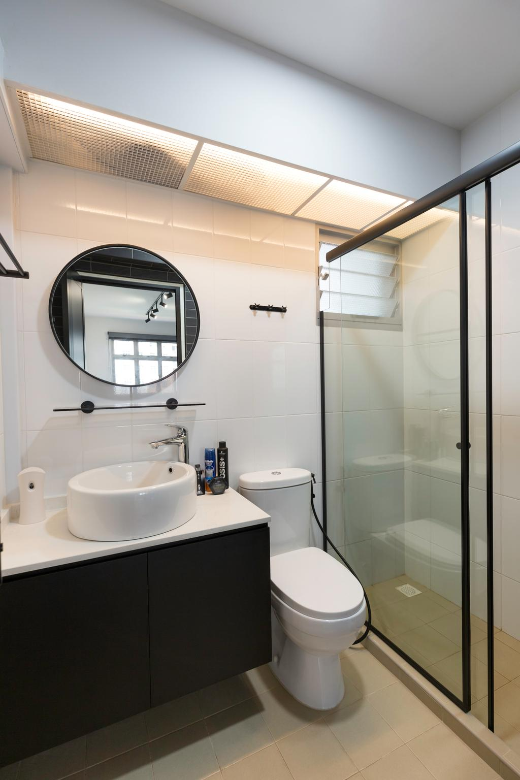 Contemporary, HDB, Bathroom, Canberra Crescent, Interior Designer, DreamCreations Interior, Modern