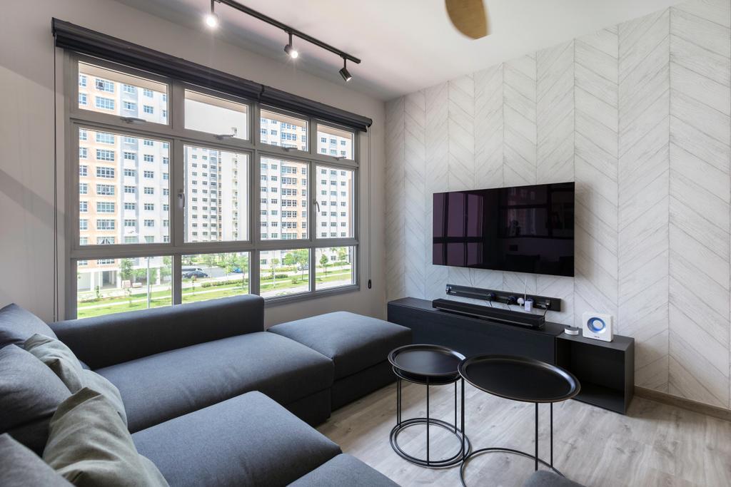 Contemporary, HDB, Living Room, Canberra Crescent, Interior Designer, DreamCreations Interior, Modern