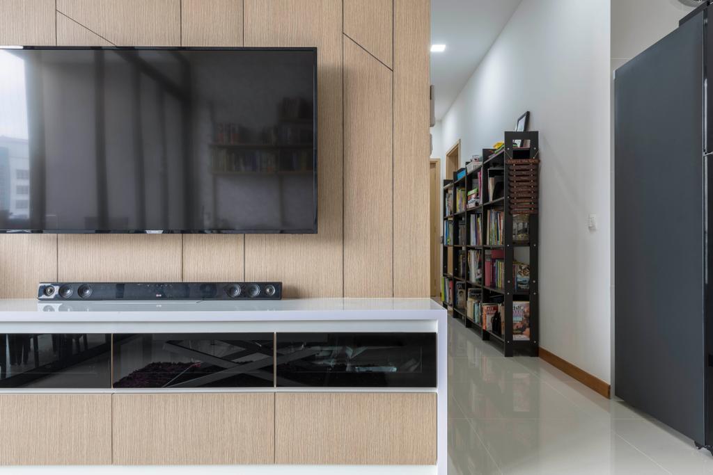 Contemporary, Condo, Living Room, Hillion Residences, Interior Designer, Craftsmen Atelier