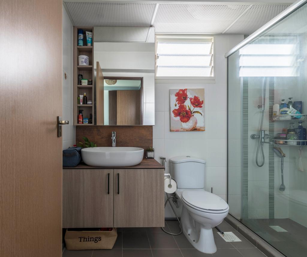 Eclectic, HDB, Bathroom, Bukit Batok Street 22, Interior Designer, Craftsmen Atelier, Vintage