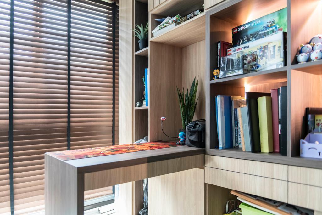 Eclectic, HDB, Study, Bukit Batok Street 22, Interior Designer, Craftsmen Atelier, Vintage