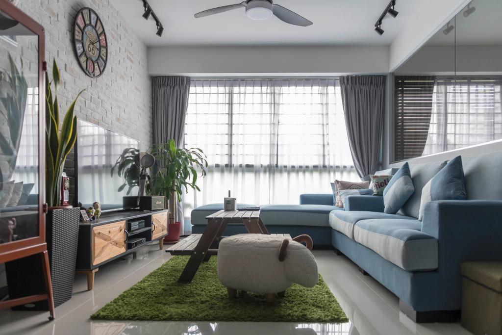 Eclectic, HDB, Living Room, Bukit Batok Street 22, Interior Designer, Craftsmen Atelier, Vintage