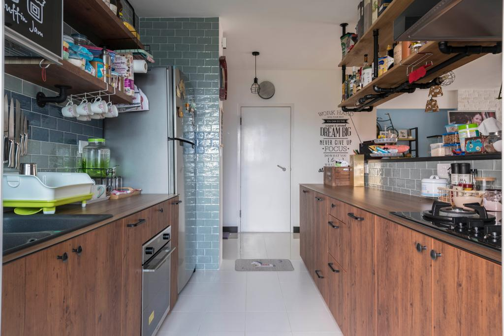 Eclectic, HDB, Kitchen, Bukit Batok Street 22, Interior Designer, Craftsmen Atelier, Vintage