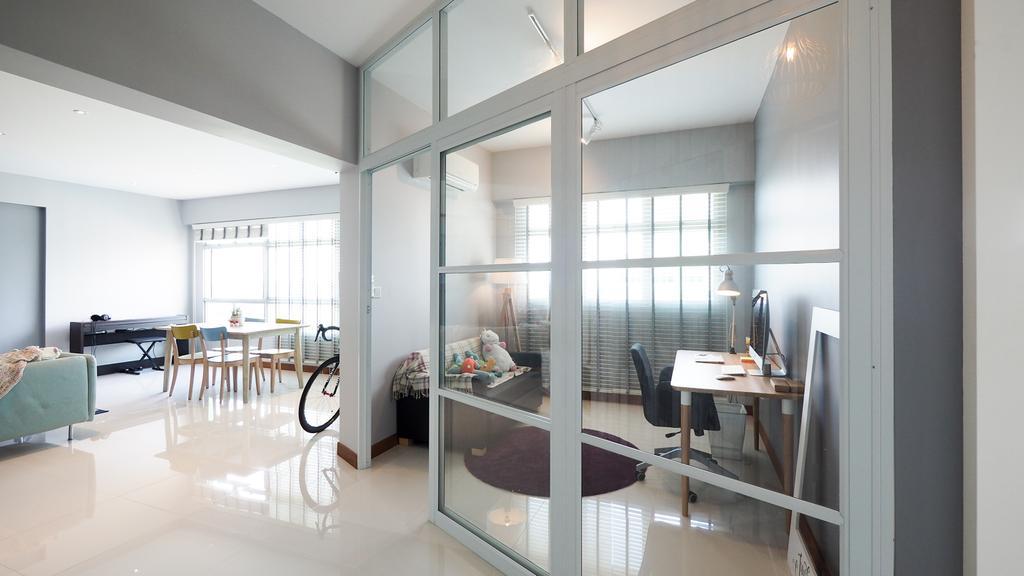 Scandinavian, HDB, Study, Sengkang, Interior Designer, D'Brain Studio