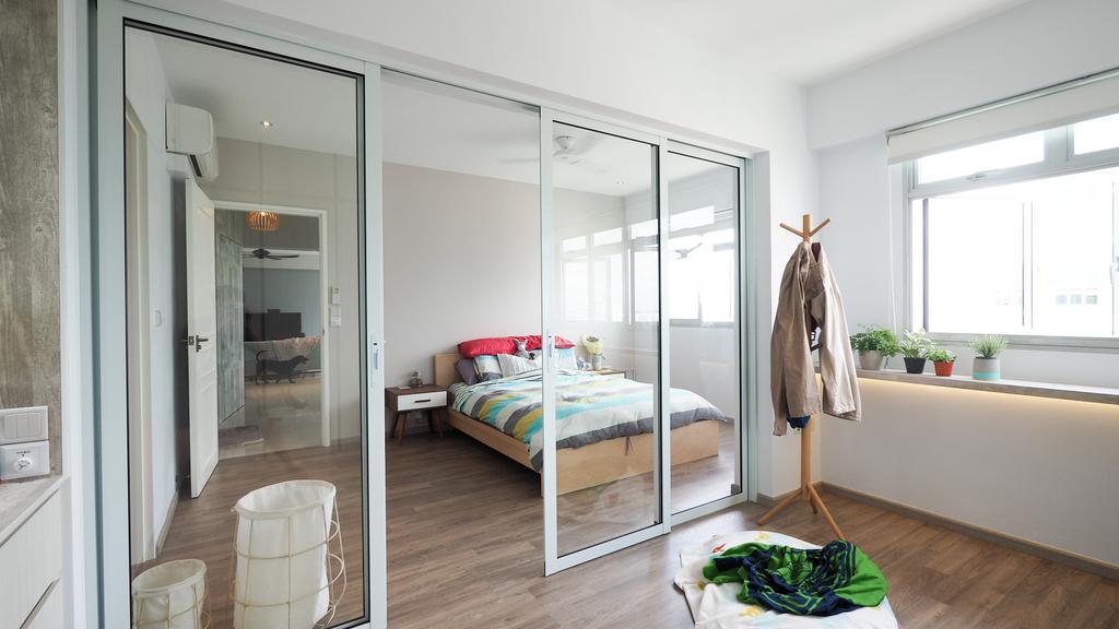 Scandinavian, HDB, Bedroom, Sengkang, Interior Designer, D'Brain Studio