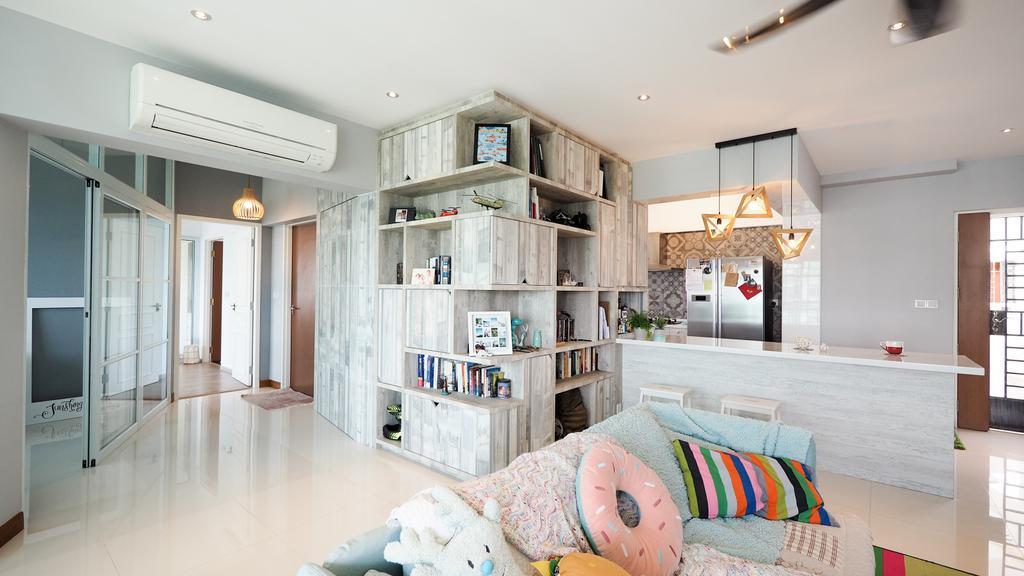 Scandinavian, HDB, Living Room, Sengkang, Interior Designer, D'Brain Studio