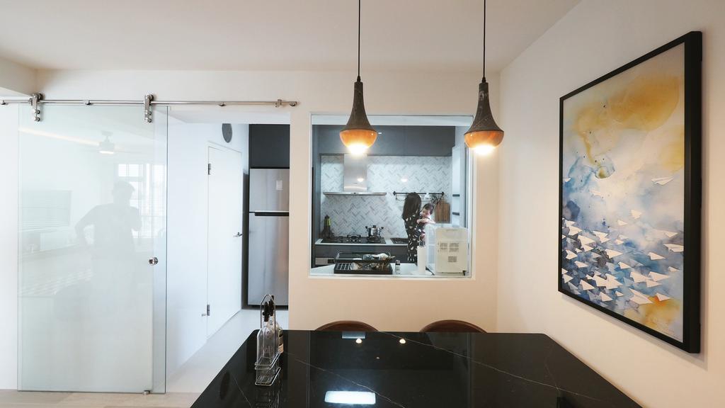 Contemporary, HDB, Dining Room, Yio Chu Kang, Interior Designer, D'Brain Studio, Modern