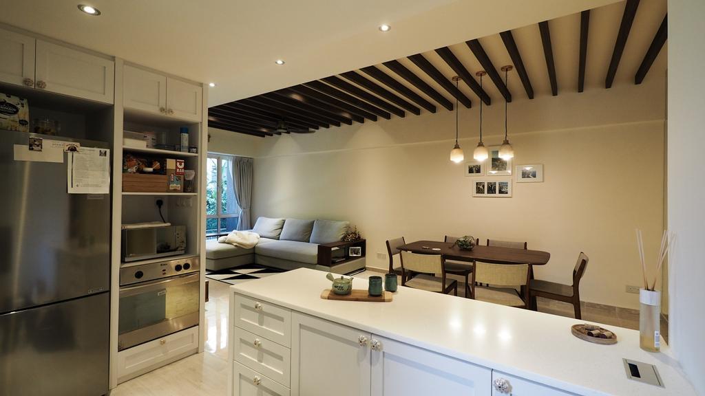 Modern, HDB, Kitchen, Kim Yan Road, Interior Designer, D'Brain Studio, Contemporary