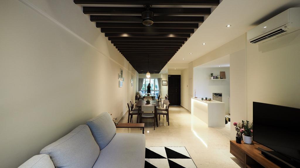 Modern, HDB, Living Room, Kim Yan Road, Interior Designer, D'Brain Studio, Contemporary