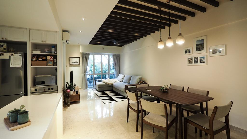 Modern, HDB, Dining Room, Kim Yan Road, Interior Designer, D'Brain Studio, Contemporary
