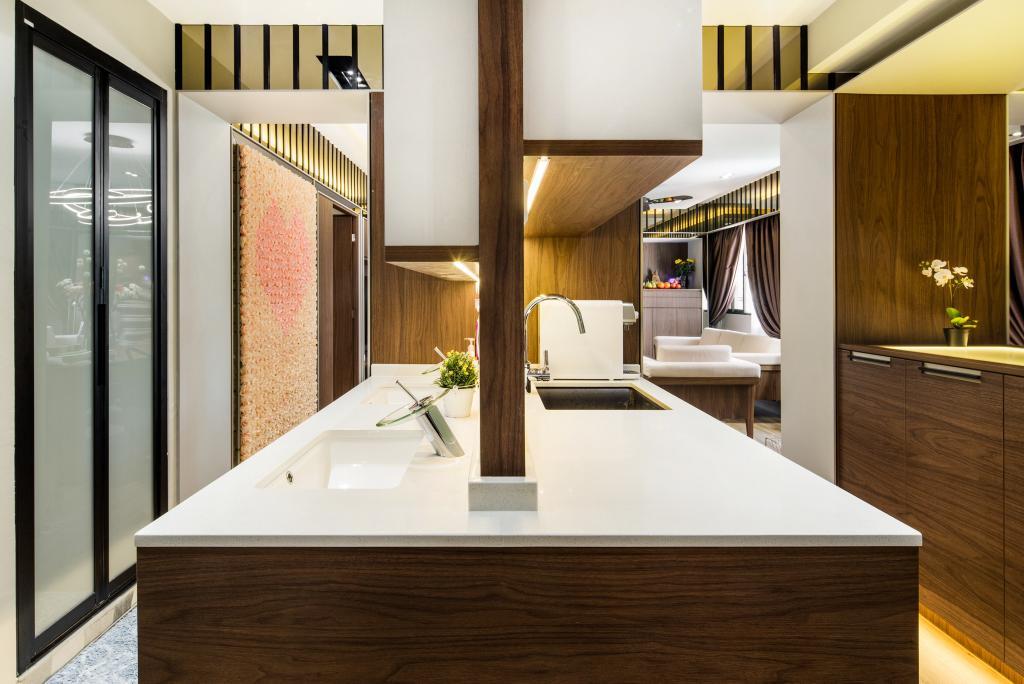 Contemporary, HDB, Kitchen, Woodlands Drive, Interior Designer, Hygge Design