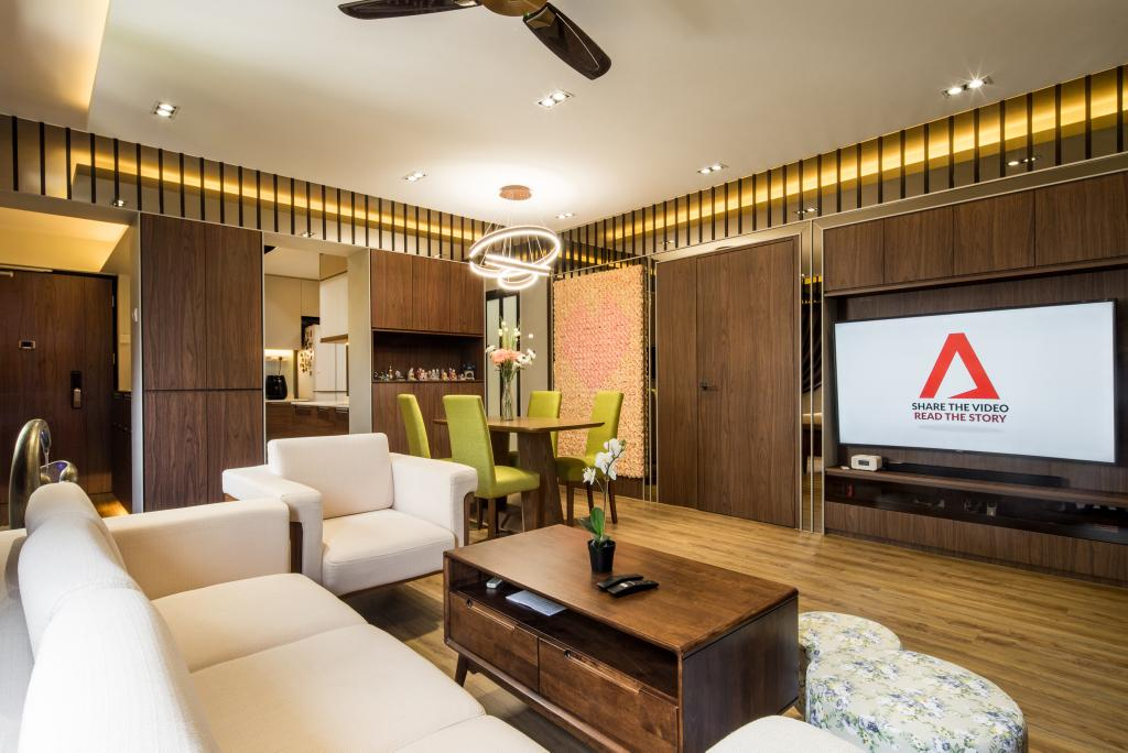 Contemporary, HDB, Living Room, Woodlands Drive, Interior Designer, Hygge Design