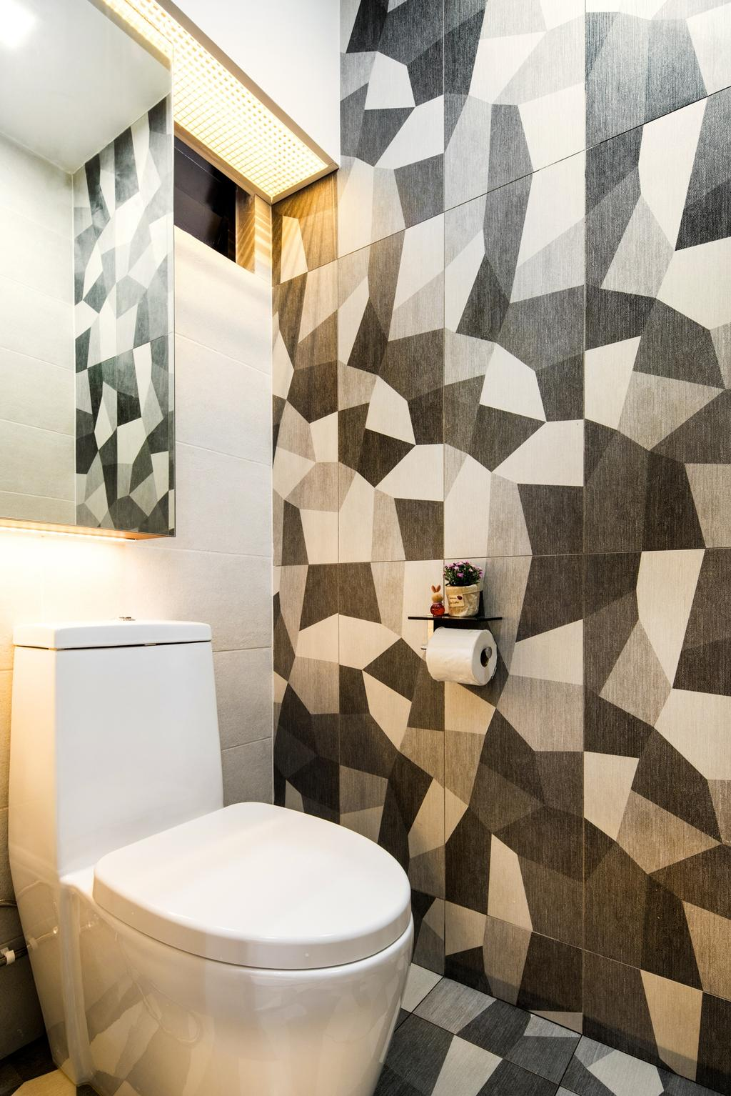 Contemporary, HDB, Bathroom, Woodlands Drive, Interior Designer, Hygge Design