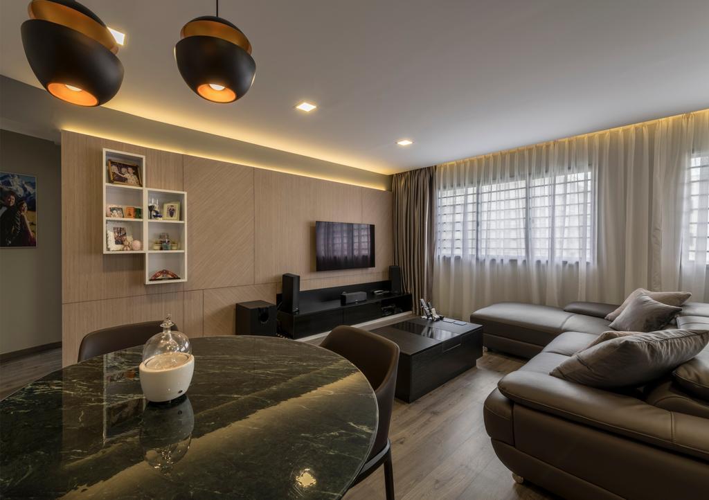 Modern, HDB, Living Room, Hougang Street 92, Interior Designer, Hygge Design