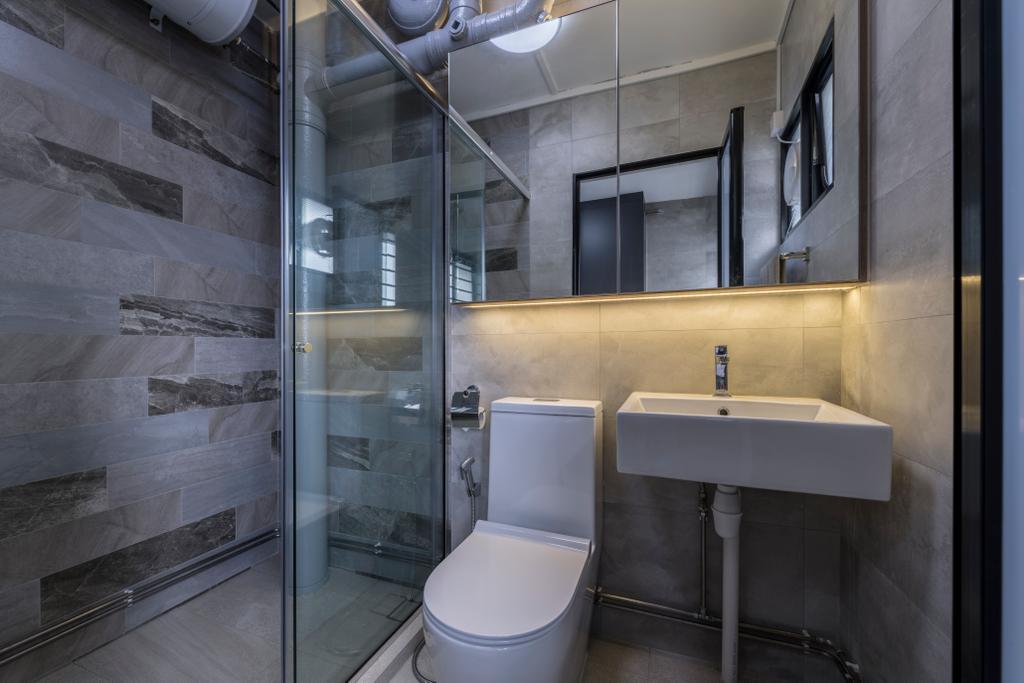 Modern, HDB, Bathroom, Hougang Street 92, Interior Designer, Hygge Design