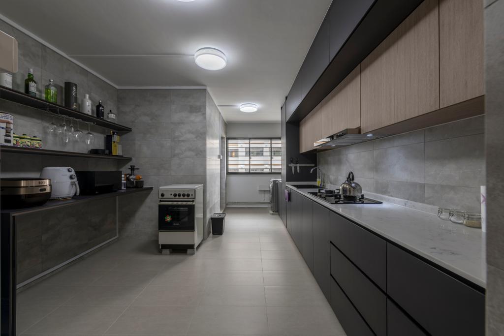 Modern, HDB, Kitchen, Hougang Street 92, Interior Designer, Hygge Design