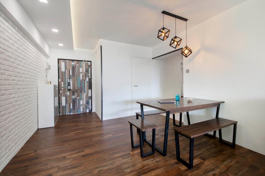 Contemporary, HDB, Dining Room, Bedok Reservoir View, Interior Designer, Azcendant