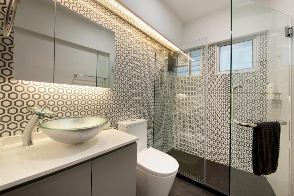 Contemporary, HDB, Bathroom, Bedok Reservoir View, Interior Designer, Azcendant