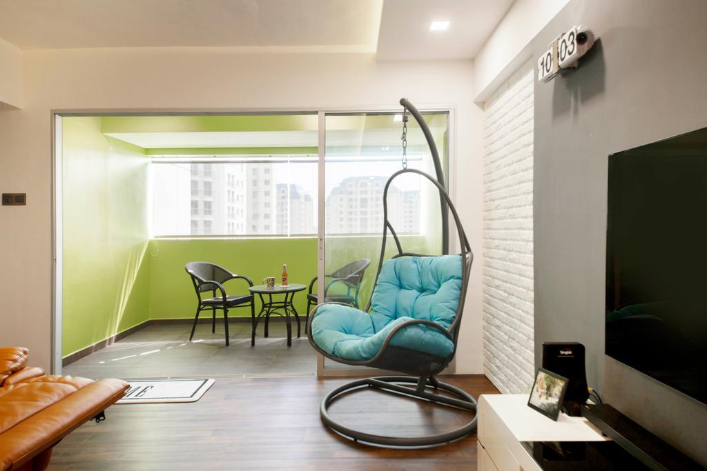 Contemporary, HDB, Balcony, Bedok Reservoir View, Interior Designer, Azcendant