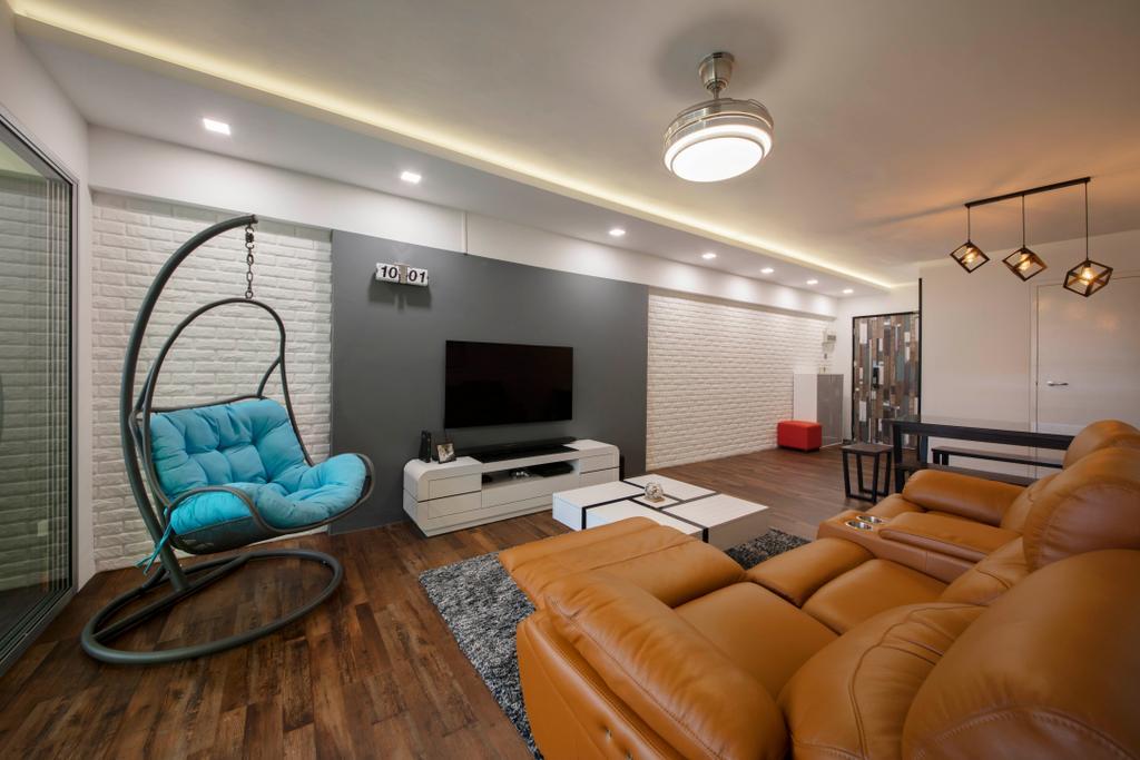 Contemporary, HDB, Living Room, Bedok Reservoir View, Interior Designer, Azcendant