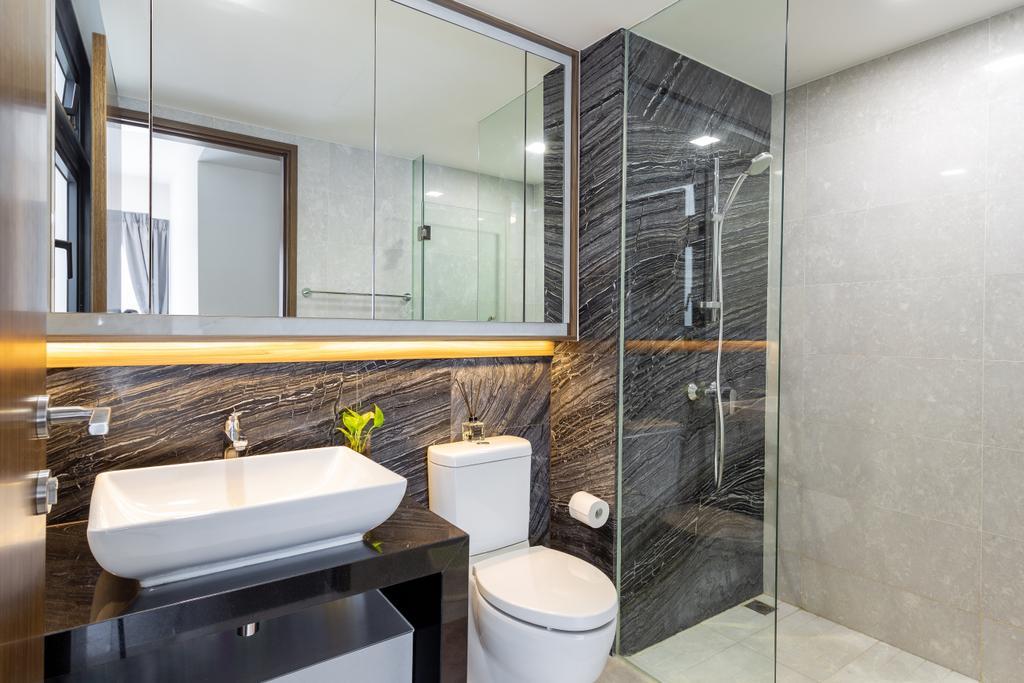 Modern, HDB, Bathroom, Edgedale Plains, Interior Designer, D Initial Concept