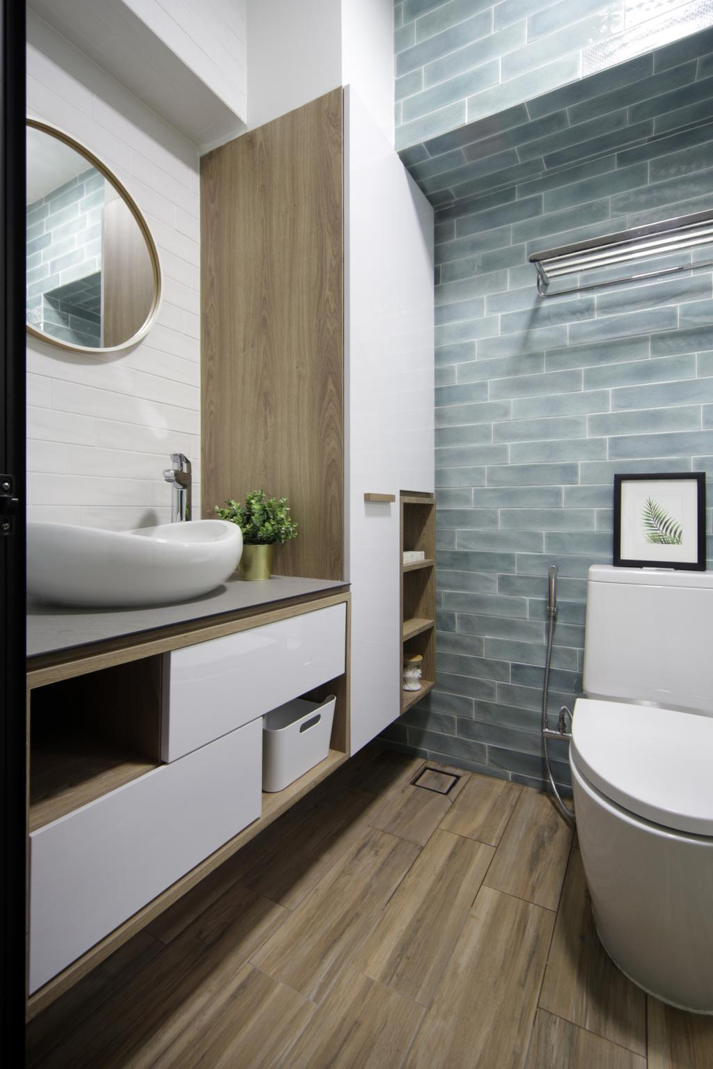 Eclectic, HDB, Bathroom, Klang Road, Interior Designer, Prozfile Design, Scandinavian