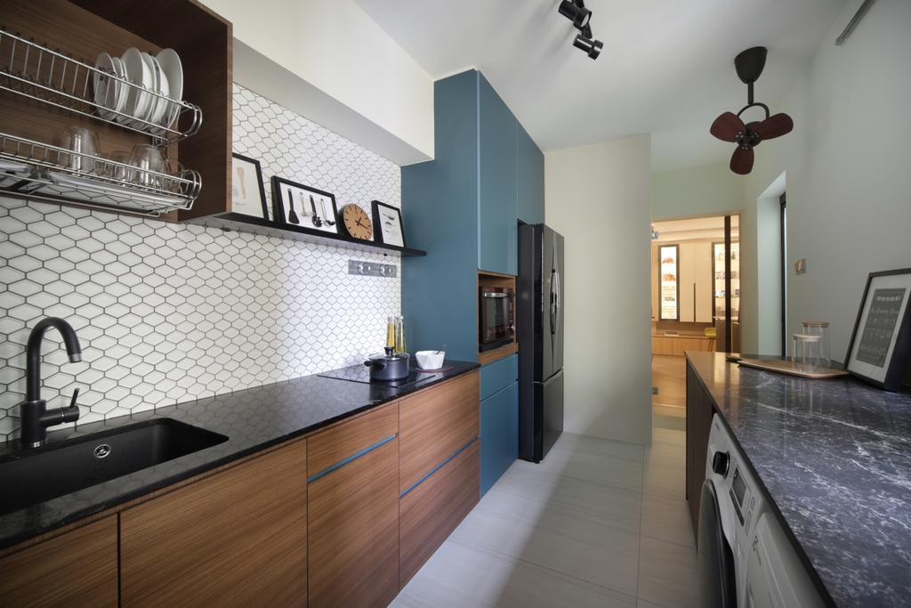 Eclectic, HDB, Kitchen, Klang Road, Interior Designer, Prozfile Design, Scandinavian