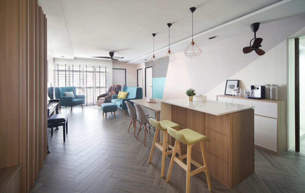 Eclectic, HDB, Living Room, Klang Road, Interior Designer, Prozfile Design, Scandinavian