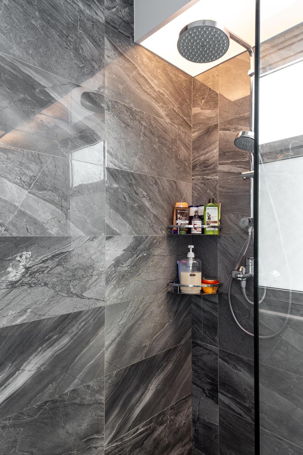 Contemporary, HDB, Bathroom, Yishun Ring Road, Interior Designer, DreamCreations Interior