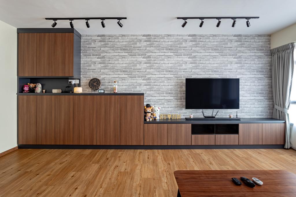 Contemporary, HDB, Living Room, Yishun Ring Road, Interior Designer, DreamCreations Interior