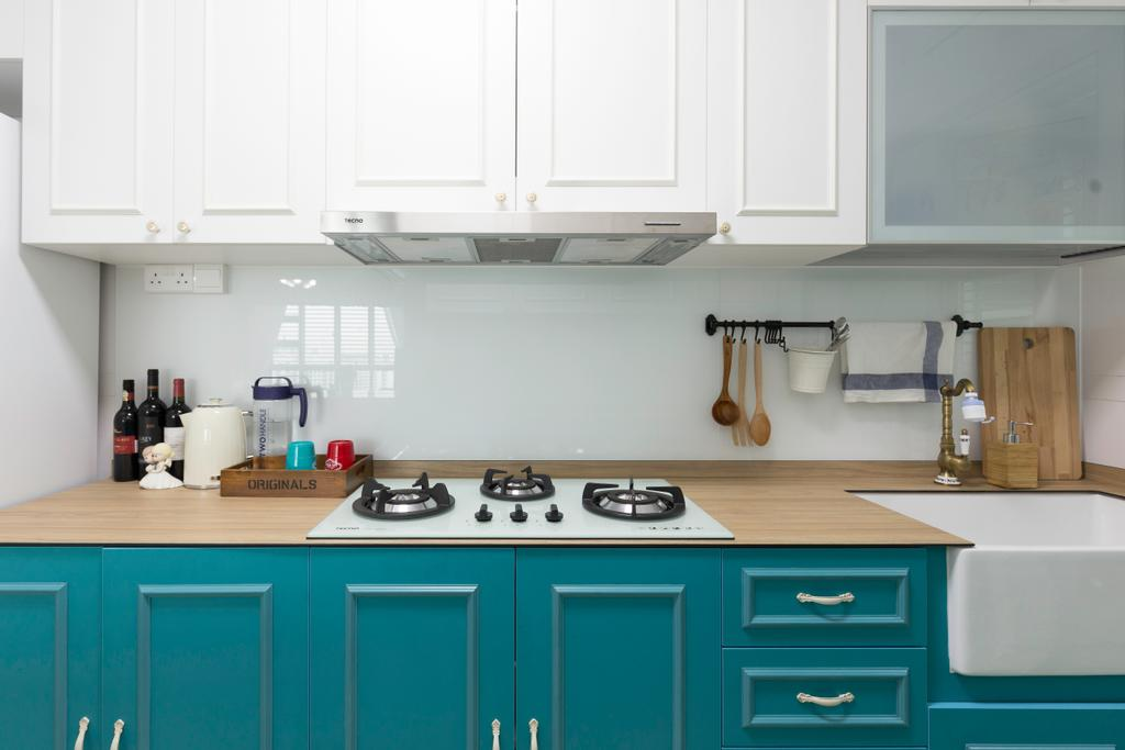 Scandinavian, HDB, Kitchen, Telok Blangah Street 31, Interior Designer, Colourbox Interior