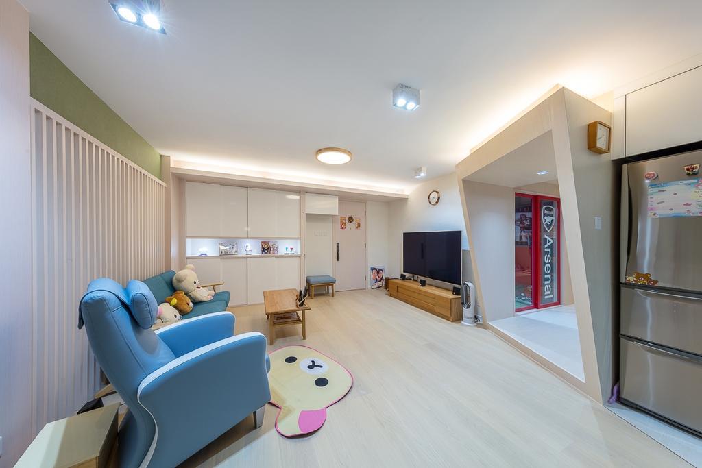 公屋/居屋, 客廳, 寶琳邨, 室內設計師, am PLUS