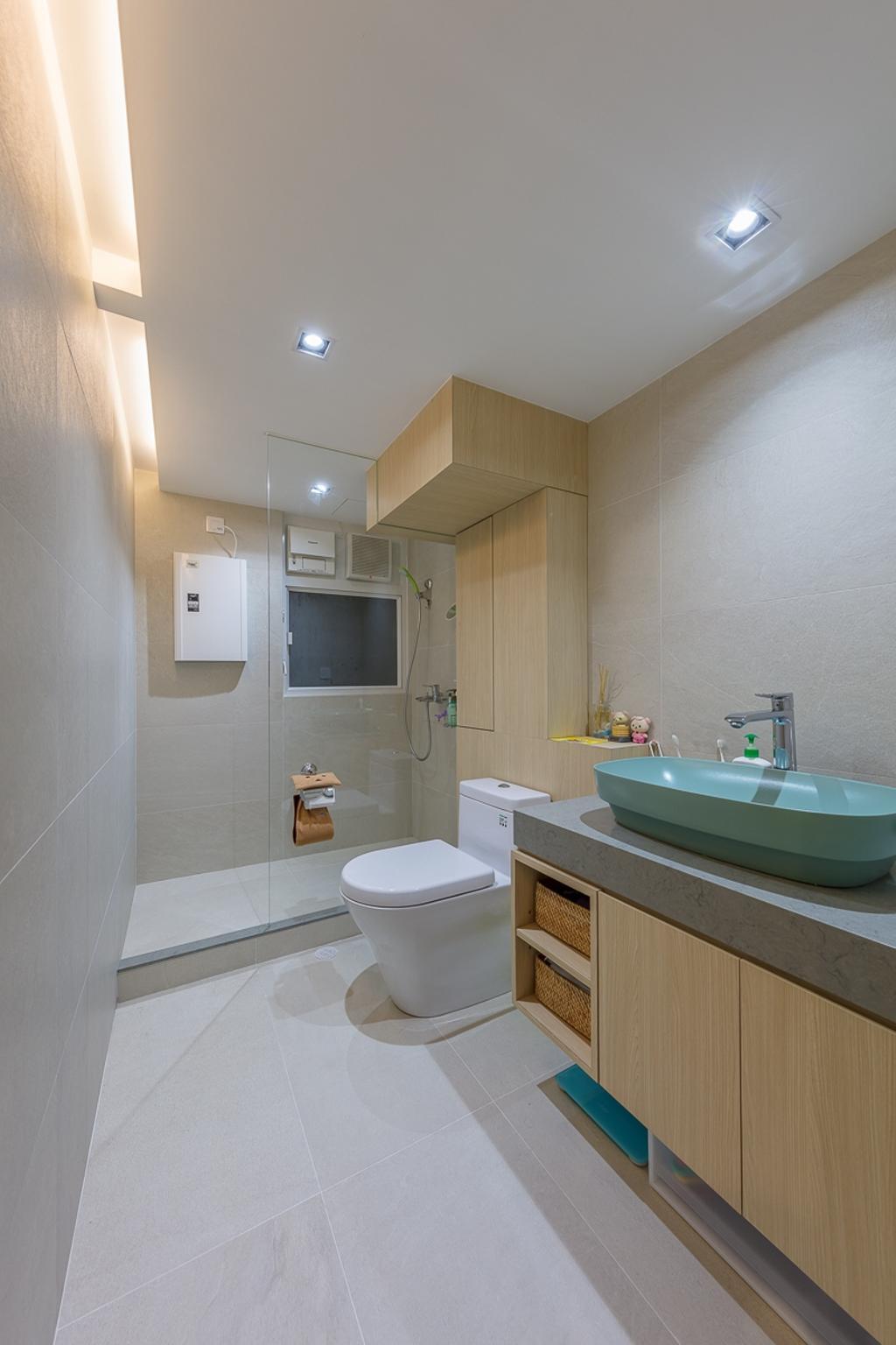 公屋/居屋, 浴室, 寶琳邨, 室內設計師, am PLUS