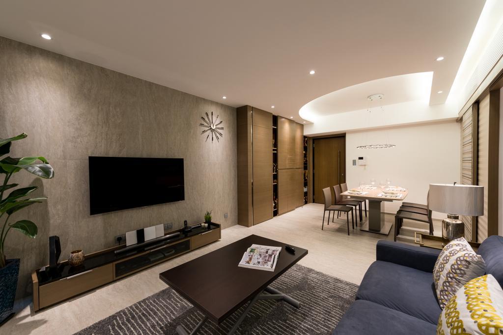 私家樓, 客廳, 君臨天下, 室內設計師, am PLUS