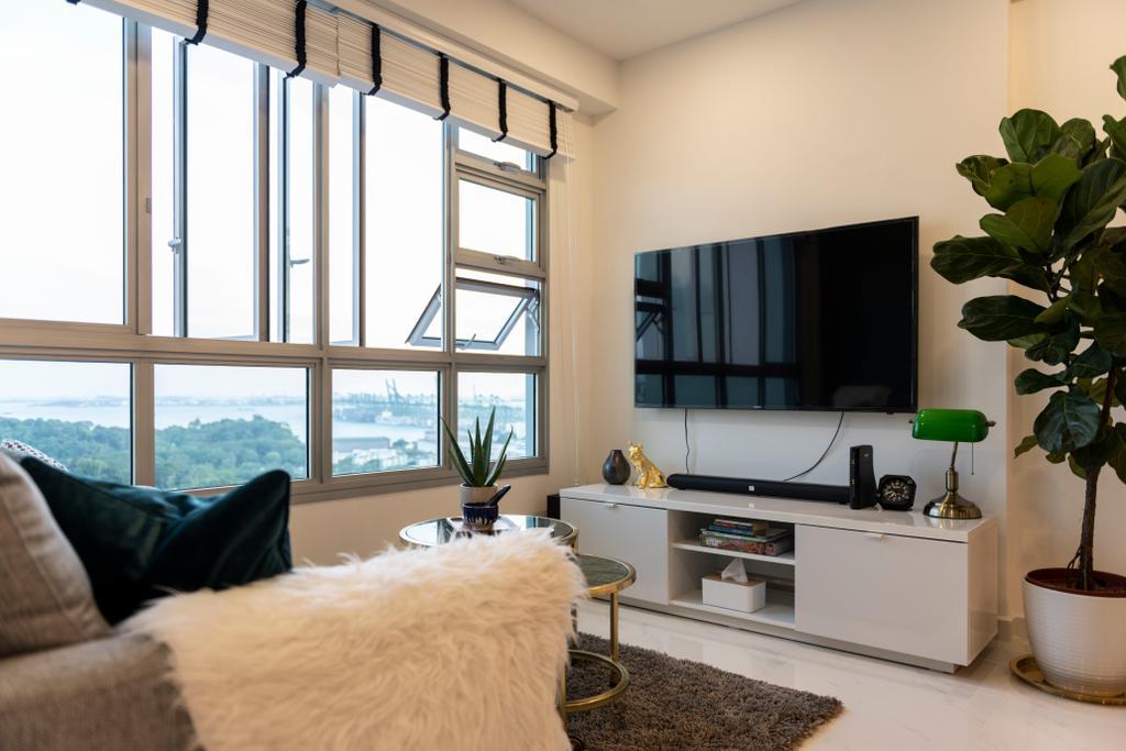 Contemporary, HDB, Living Room, Telok Blangah (Block 91A), Interior Designer, Fifth Avenue Interior