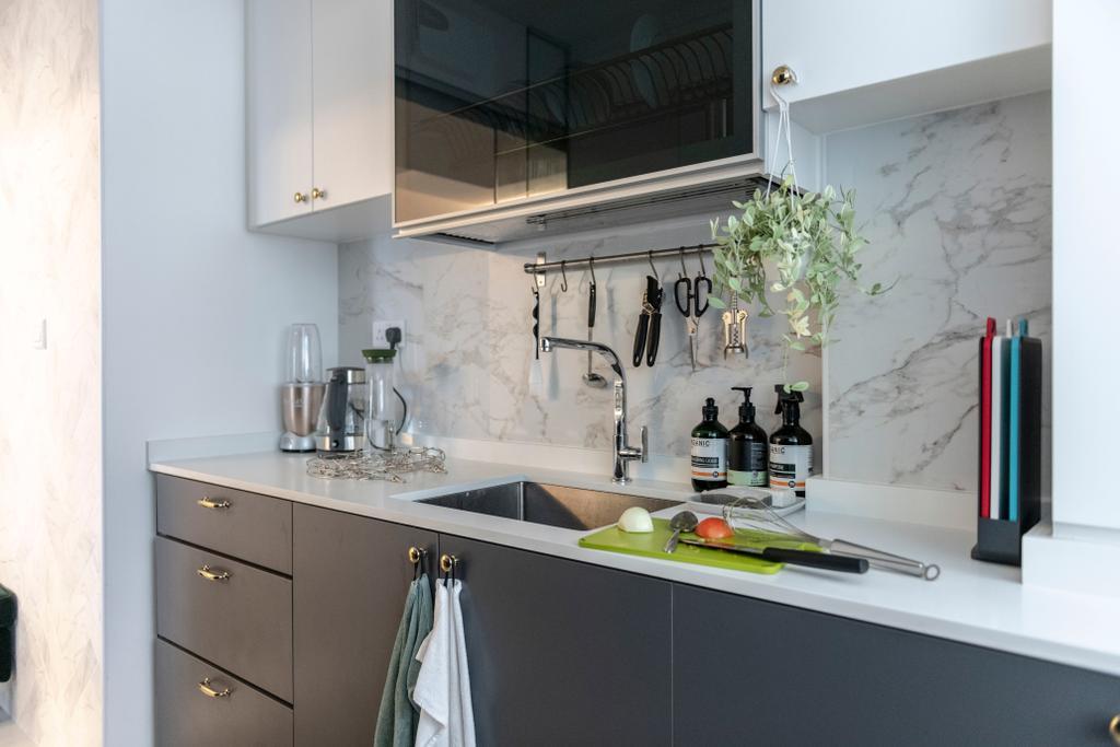 Contemporary, HDB, Kitchen, Telok Blangah (Block 91A), Interior Designer, Fifth Avenue Interior
