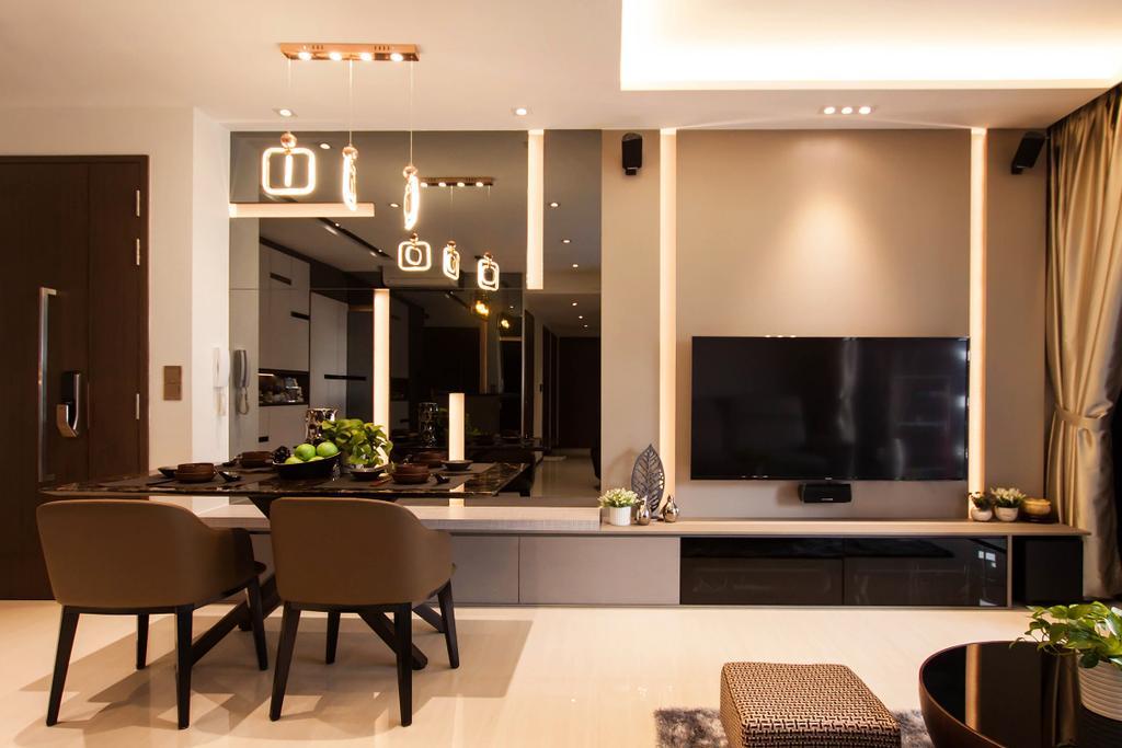 Modern, Condo, Dining Room, Bellewoods, Interior Designer, Space Atelier