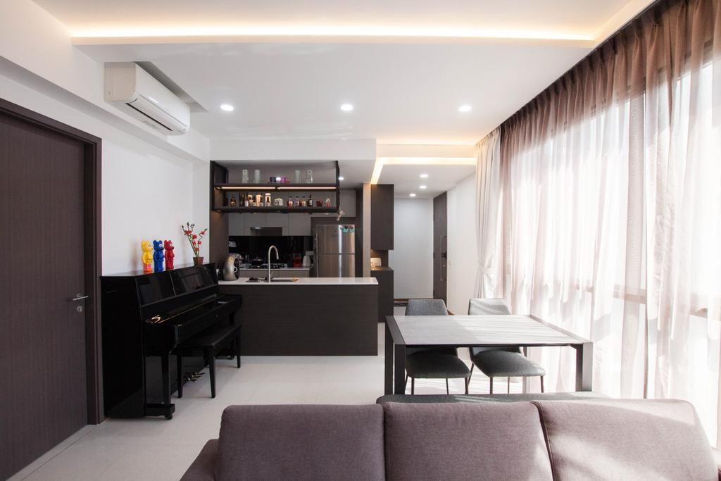 Modern, Condo, Living Room, Vue 8, Interior Designer, Space Atelier, Contemporary