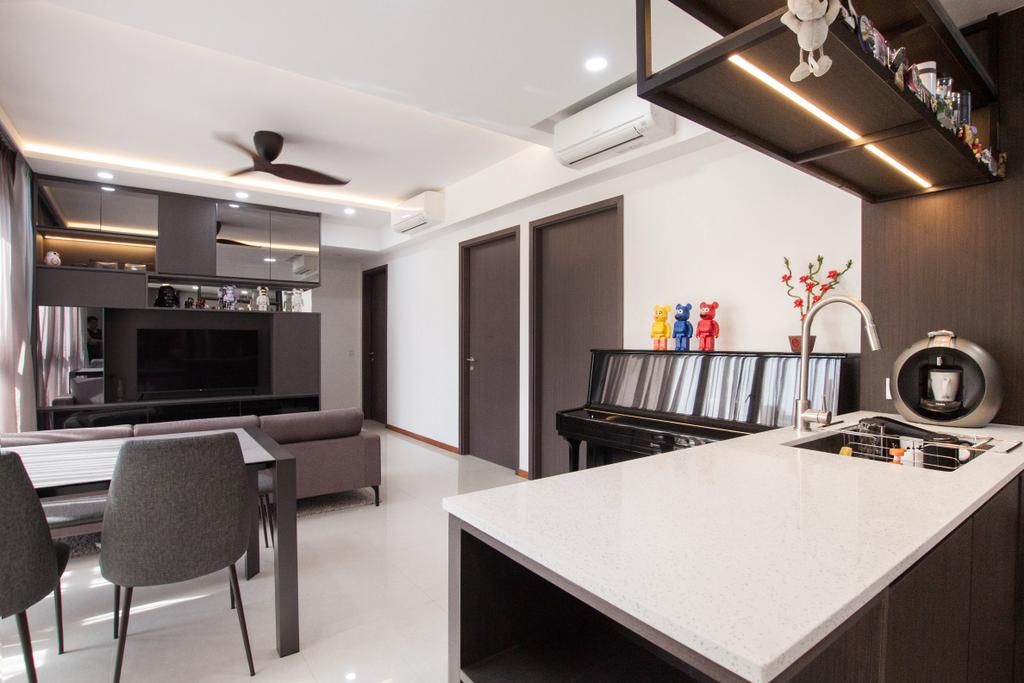 Modern, Condo, Kitchen, Vue 8, Interior Designer, Space Atelier, Contemporary